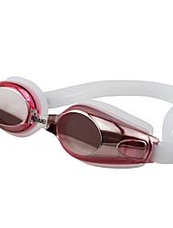 cheap -Swimming Goggles Waterproof Anti-Fog Adjustable Size Anti-UV Prescription Mirrored Silica Gel PC Pink Blacks Blues Pink Black Blue