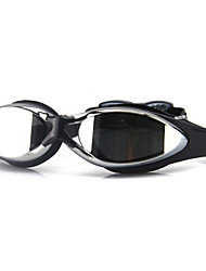 cheap -Swimming Goggles Waterproof Anti-Fog Adjustable Size Anti-UV Polarized Lense Mirrored Silica Gel PC Blacks Blues Light Green Black Blue Light Pink