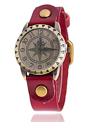 cheap -Women's Wrist Watch Quartz Leather Black / White / Blue Large Dial Analog Charm Classic Casual Fashion Aristo - Red Green Blue