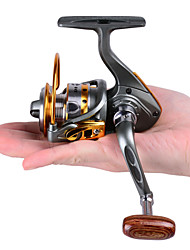 cheap -Fishing Reel Spinning Reel 5.2:1 Gear Ratio+12 Ball Bearings Hand Orientation Exchangable Bait Casting / Ice Fishing / Spinning / Freshwater Fishing / Carp Fishing / Bass Fishing / Lure Fishing