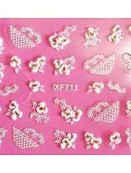 cheap -1 pcs 3D Nail Stickers Lace Stickers nail art Manicure Pedicure Abstract / Fashion Daily