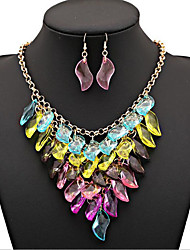 cheap -Jewelry Set Layered Statement Vintage Work Casual Fashion Multi Layer Earrings Jewelry Rainbow For Party Special Occasion Anniversary Birthday Gift 1 set / Necklace