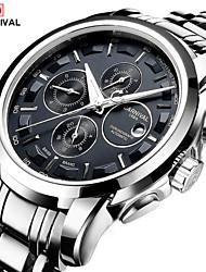 cheap -Carnival Men's Wrist Watch Aviation Watch Automatic self-winding Stainless Steel White 30 m Hot Sale Analog - Digital Charm Fashion - Black / Silver