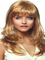 cheap -Synthetic Wig Curly Curly Wig Blonde Medium Length Blonde Synthetic Hair Women's Blonde