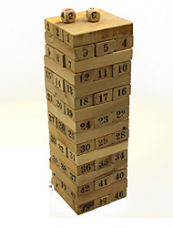 cheap -48 pcs Board Game Stacking Game Stacking Tumbling Tower Wooden Professional Balance Kid's Adults' Boys' Girls' Toys Gifts