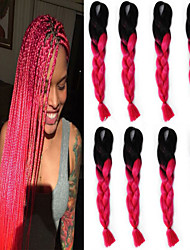 cheap -Others Straight Synthetic Hair 18 inch Hair Extension Micro Ring Hair Extensions Multi-color 1pc Cosplay Women's Halloween Party Evening