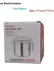 cheap -Basekey  Mid  Anchor-Hocking-1-Piece-Stainless-Steel-Clamp-Canister-Set-with-Clear-Lid-New