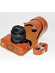 Недорогие -dengpin® пу кожаный чехол для камеры сумка крышка с плечевым ремнем для Canon EOS m10 15-45 объектив (ассорти цветов)