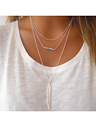 cheap -Women's Crystal Pendant Necklace Y Necklace Beaded Ladies European Simple Style Fashion Alloy Golden Silver Necklace Jewelry For Party Daily Casual