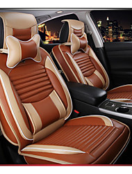 cheap -ODEER Car Seat Covers Headrest & Waist Cushion Kits Black / Red / Cream-colored / Orange Textile Business For Volvo / Volkswagen / Toyota 2005 / 2006 / 2007