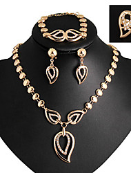 cheap -Jewelry Set - Cubic Zirconia, Imitation Diamond Luxury, Party, Work Include Gold / Purple For Party Special Occasion Anniversary / Earrings / Necklace