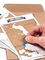 Недорогие -3D пазлы Деревянные пазлы Бумажная модель Деревянные игрушки карта Бумага Детские Взрослые Игрушки Подарок