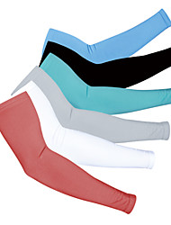 cheap -1 Pair Realtoo Cycling Sleeves Sun Sleeves Compression Sleeves Patterned UPF 50 Sun Protection Sunscreen Bike Blue Gray Green Elastane Polyester Summer for Men's Women's Adults' Road Bike Mountain