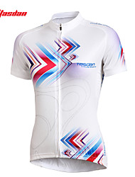 cheap -TASDAN Women's Short Sleeve Cycling Jersey Plus Size Bike Jersey Top Clothing Suit Mountain Bike MTB Road Bike Cycling Breathable Quick Dry Ultraviolet Resistant Sports Clothing Apparel / Stretchy