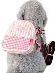 cheap -Dog Harness Leash Commuter Backpack Adjustable / Retractable Textile Blue Pink