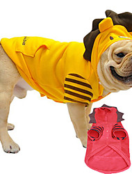 cheap -Dog Hoodie Animal Cartoon Cosplay Keep Warm Fashion Dog Clothes Yellow Red Costume Cotton L XL XXL XXXL XXXXL XXXXXL