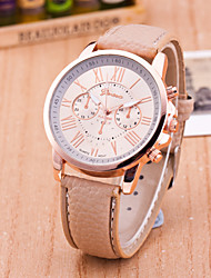 cheap -Geneva Women's Wrist Watch Quartz Leather Black / White / Blue Casual Watch Analog Ladies Casual Fashion - Pink Light Blue Khaki One Year Battery Life / Tianqiu 377