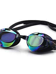 Недорогие -плавательные очки Водонепроницаемость Противо-туманное покрытие Регулируемый размер УФ-защита Поляризованные линзы Зеркальный Для силикагель Поликарбонат белый серый черный розовый черный синий