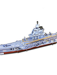 cheap -Aircraft Carrier 3D Puzzle Wooden Puzzle Paper Model Wooden Model Paper Kid's Adults' Toy Gift