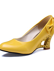 cheap -Women's Wedge Heel Leatherette Spring / Summer Black / Yellow / Red / Wedding / Party & Evening / Dress / Party & Evening / EU40