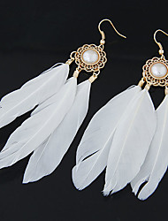 cheap -Women's Drop Earrings Feather Personalized European Fashion Native American Feather Earrings Jewelry For Party Daily Casual