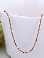 cheap -Women's Chain Necklace Snake Chain Basic Hip-Hop 18K Gold Plated Rose Gold Plated Gold 46+5 cm Necklace Jewelry For Street Club