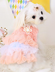 cheap -Dog Dress Dog Clothes Blue Pink Cotton Costume For Spring &  Fall Men's Women's Fashion