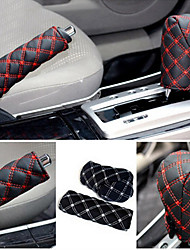 cheap -ZIQIAO Hand Brake Case & Gear Shift Case Car Interior Accessory 2PCS/Set