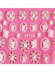 cheap -3D Emboss Butterfly Badge Nail Stickers