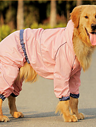cheap -Dog Rain Coat Solid Colored Waterproof Fashion Outdoor Dog Clothes Blue Pink Costume Terylene L XL XXL XXXL