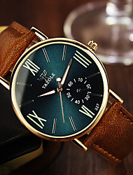 cheap -Men's Wrist Watch Quartz Leather Brown 30 m Analog Classic - Black Royal Blue / Stainless Steel