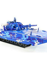 cheap -Tank 3D Puzzle Wooden Puzzle Paper Model Wooden Model Paper Kid's Adults' Toy Gift