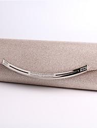 cheap -Women's Crystal / Rhinestone Polyester / Metal Evening Bag Black / Almond / Gold