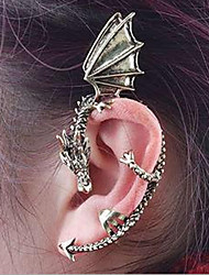 cheap -Ear Cuff Climber Earrings Helix Earrings cuff Dragon Ladies Vintage Gothic Earrings Jewelry Golden / Black / Silver For Halloween Daily Casual