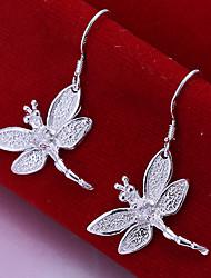 cheap -Women's Drop Earrings Luxury Silver Plated Earrings Jewelry Silver For