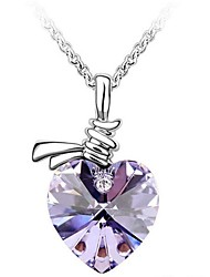 cheap -Women's Crystal Pendant Necklace Crystal Alloy Rose Green Blue Necklace Jewelry For Wedding Party Daily Casual