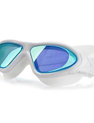 Недорогие -плавательные очки Водонепроницаемость Противо-туманное покрытие Регулируемый размер УФ-защита Поляризованные линзы Зеркальный Для силикагель Поликарбонат белый серый черный белый розовый черный