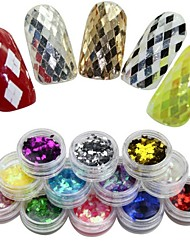 cheap -12 pcs Glitter Powder Sequins For Finger nail art Manicure Pedicure Daily Abstract / Fashion