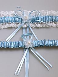 Недорогие -Кружева / Сатин Мода Свадебный подвязка С Кружева / Цветы Подвязки