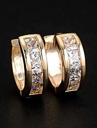 cheap -Women's Cubic Zirconia Stud Earrings Hoop Earrings Huggie Earrings Ladies Fashion Elegant Bling Bling Zircon Earrings Jewelry Silver / Golden For Wedding Party Daily Casual Sports Masquerade