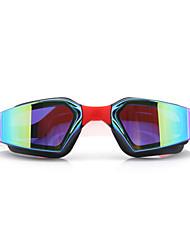 Недорогие -плавательные очки Водонепроницаемость Противо-туманное покрытие Регулируемый размер УФ-защита Поляризованные линзы Зеркальный Для силикагель Поликарбонат красный розовый черный красный розовый серый