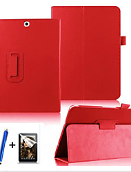 cheap -Phone Case For Samsung Galaxy Tab S2 9.7 Full Body Case 360° Rotation with Stand Flip Solid Colored Hard PU Leather