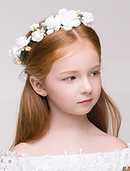 cheap -Fabric / Plastic Wreaths with 1 Wedding / Special Occasion / Outdoor Headpiece
