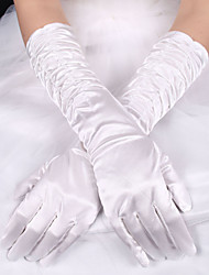cheap -Elastic Satin / Silk Elbow Length Glove Bridal Gloves With Bowknot