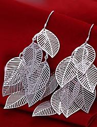 cheap -Women's Drop Earrings Chandelier Silver Plated Earrings Jewelry Silver For