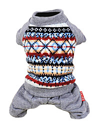 cheap -Dog Jumpsuit Dress Dog Clothes Red Polar Fleece Costume For Spring &  Fall Men's Women's Fashion