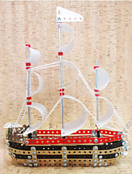 cheap -333 pcs Ship 3D Puzzle Wooden Puzzle Metal Puzzle Metal Kid's Adults' Toy Gift