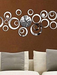 cheap -Wall Clock,Casual Modern Contemporary Office / Business Plastic Round Indoor