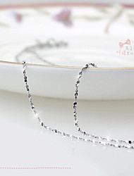 cheap -Women's Chains Necklace Ladies Party Fashion Sterling Silver Platinum Plated Silver White Silver Necklace Jewelry For Daily