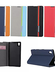 cheap -Case For Sony Xperia Z5 / Sony Xperia Z3 / Sony Xperia Z3 Compact Sony Xperia Z2 / Sony Xperia Z3 / Sony Xperia Z3 Compact Card Holder / with Stand / Flip Full Body Cases Solid Colored Hard PU Leather